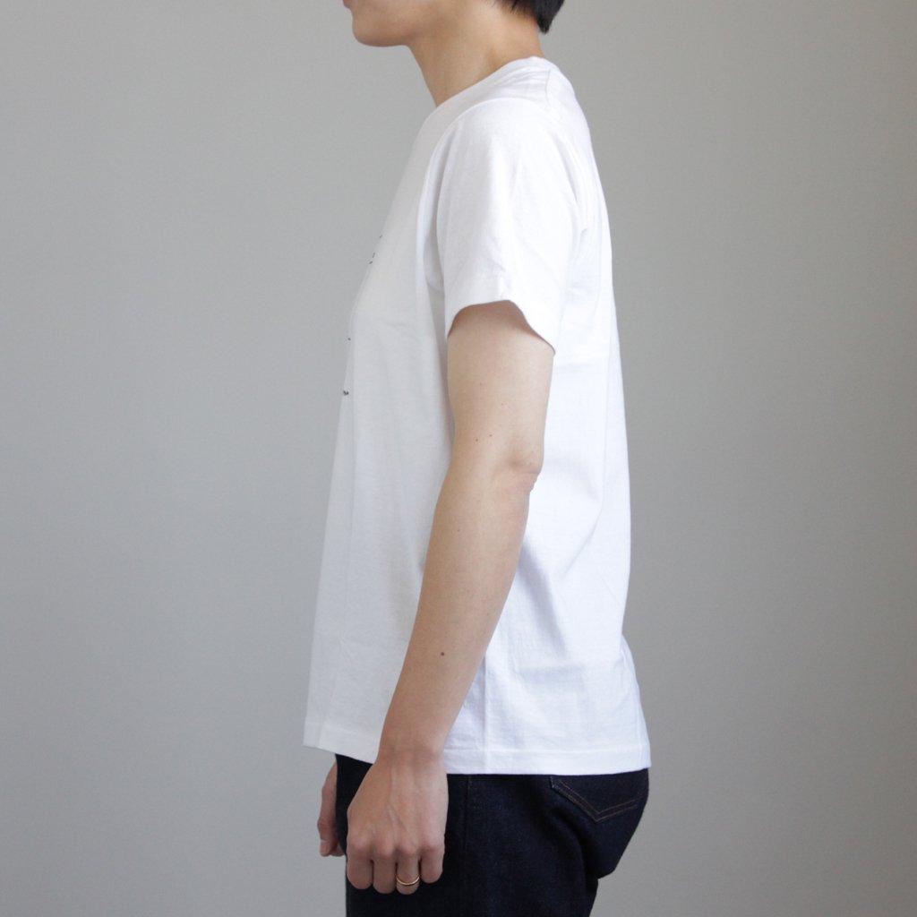 YAECA | ヤエカ 丸胴 CREW NECK TEE KEN KAGAMI - SMART ICECREAM #WHITE [88008]