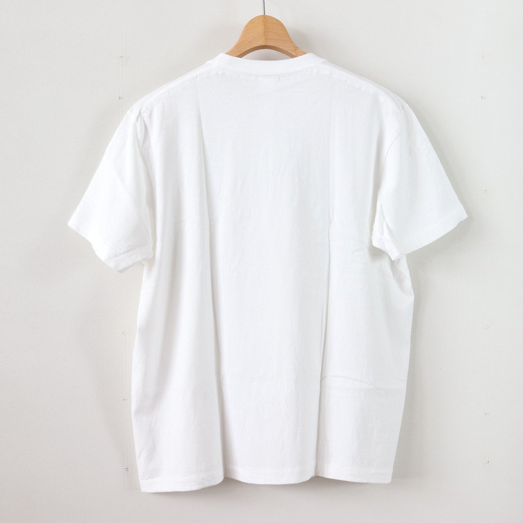丸胴 CREW NECK TEE KEN KAGAMI - SMART CHIPS #WHITE [38007]