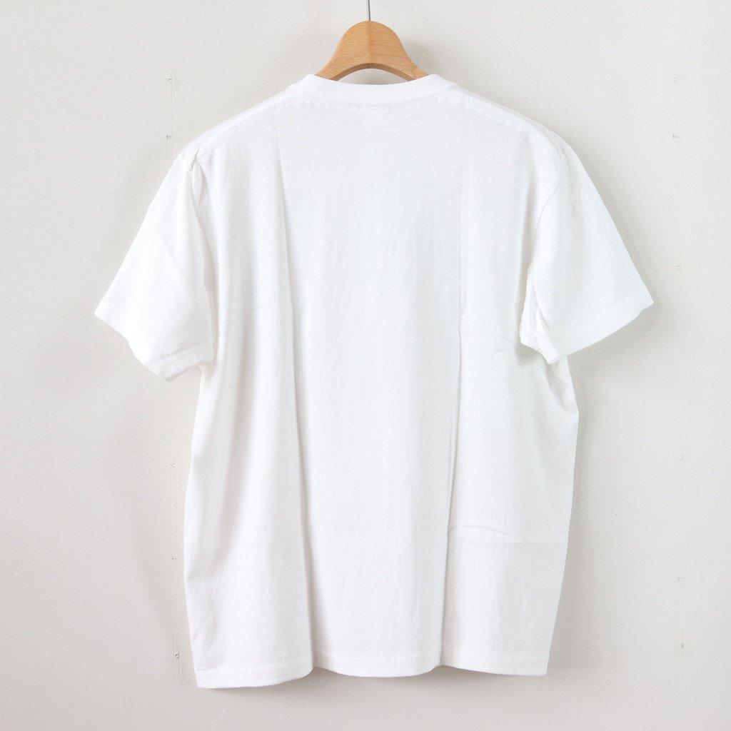 丸胴 CREW NECK TEE KEN KAGAMI - SMART ICECREAM #WHITE [38008]