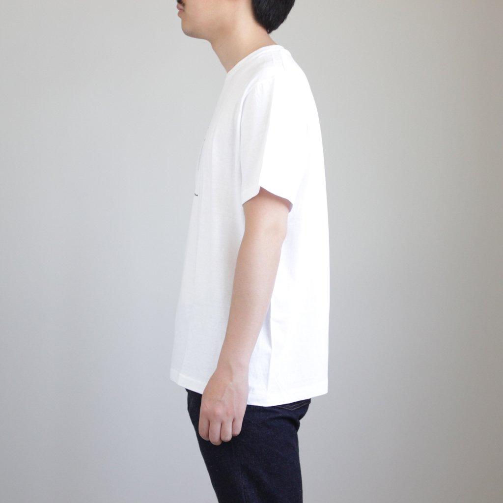 YAECA | ヤエカ 丸胴 CREW NECK TEE KEN KAGAMI - SMART ICECREAM #WHITE [38008]