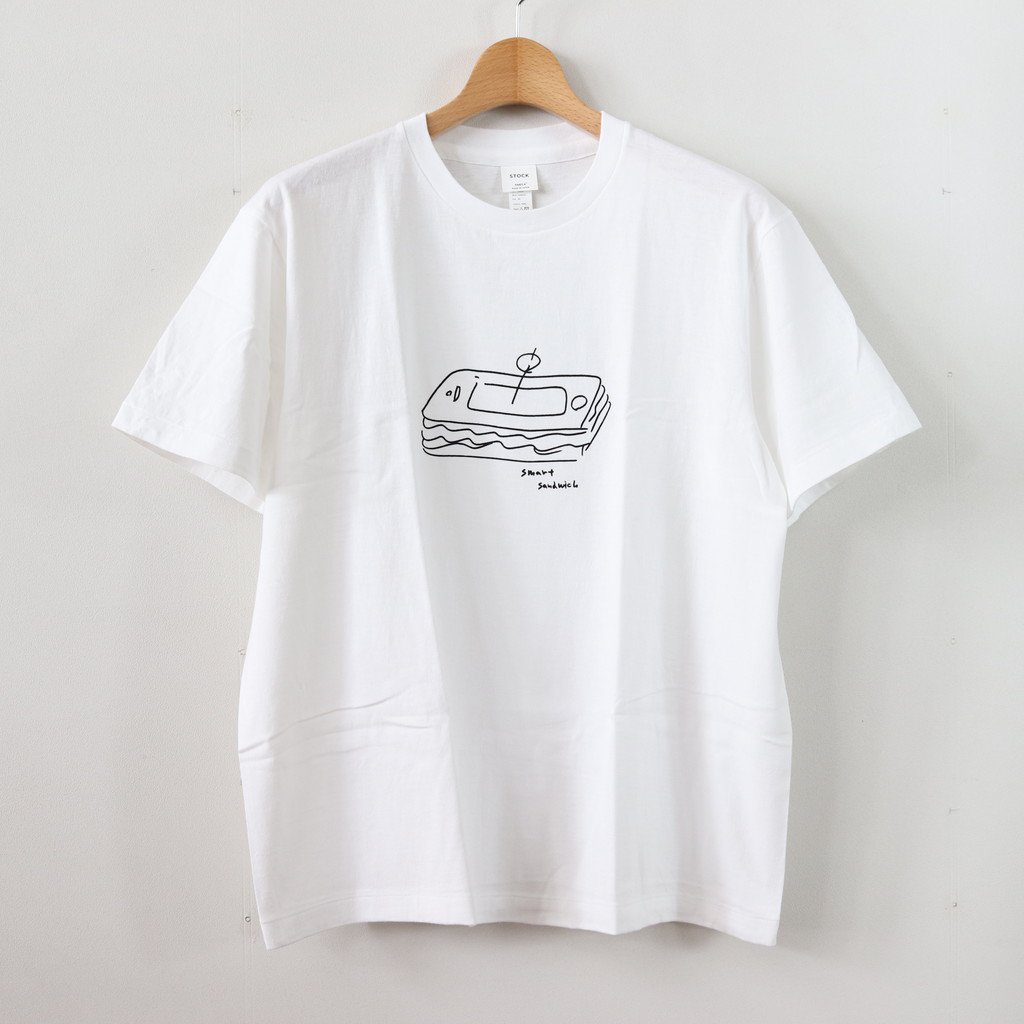 丸胴 CREW NECK TEE KEN KAGAMI - SMART SANDWICH #WHITE [38009]