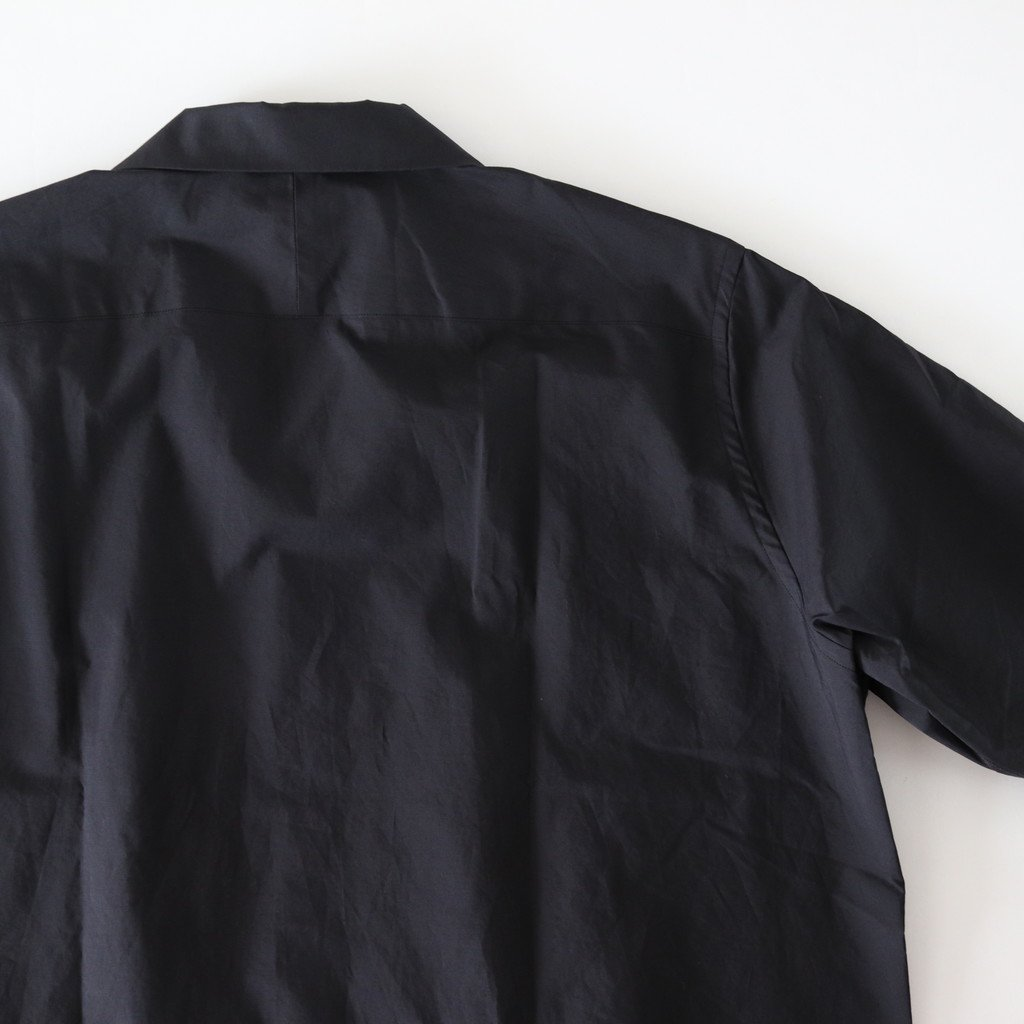 AURALEE | オーラリー SELVEDGE WEATHER CLOTH HALF SLEEVED SHIRTS #INK BLACK [A8SS02WC]