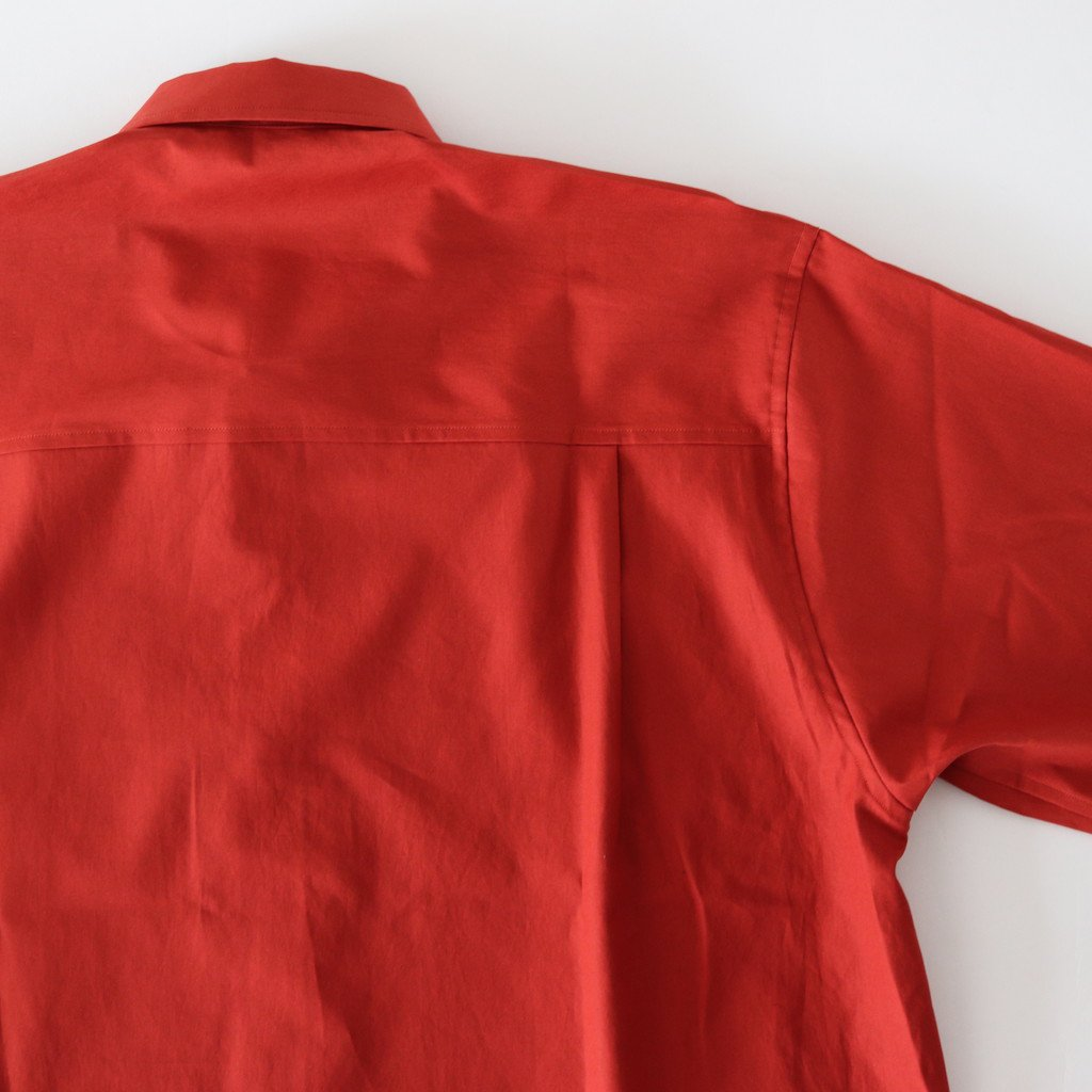 AURALEE | オーラリー WASHED FINX TWILL BIG SHIRTS #RED [A8SS06TN]