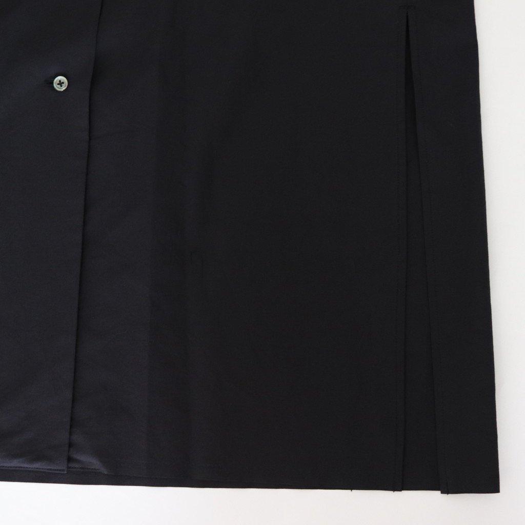 SELVEDGE WEATHER CLOTH LONGSHIRT DRESS #INK BLACK [A8SO04WC]