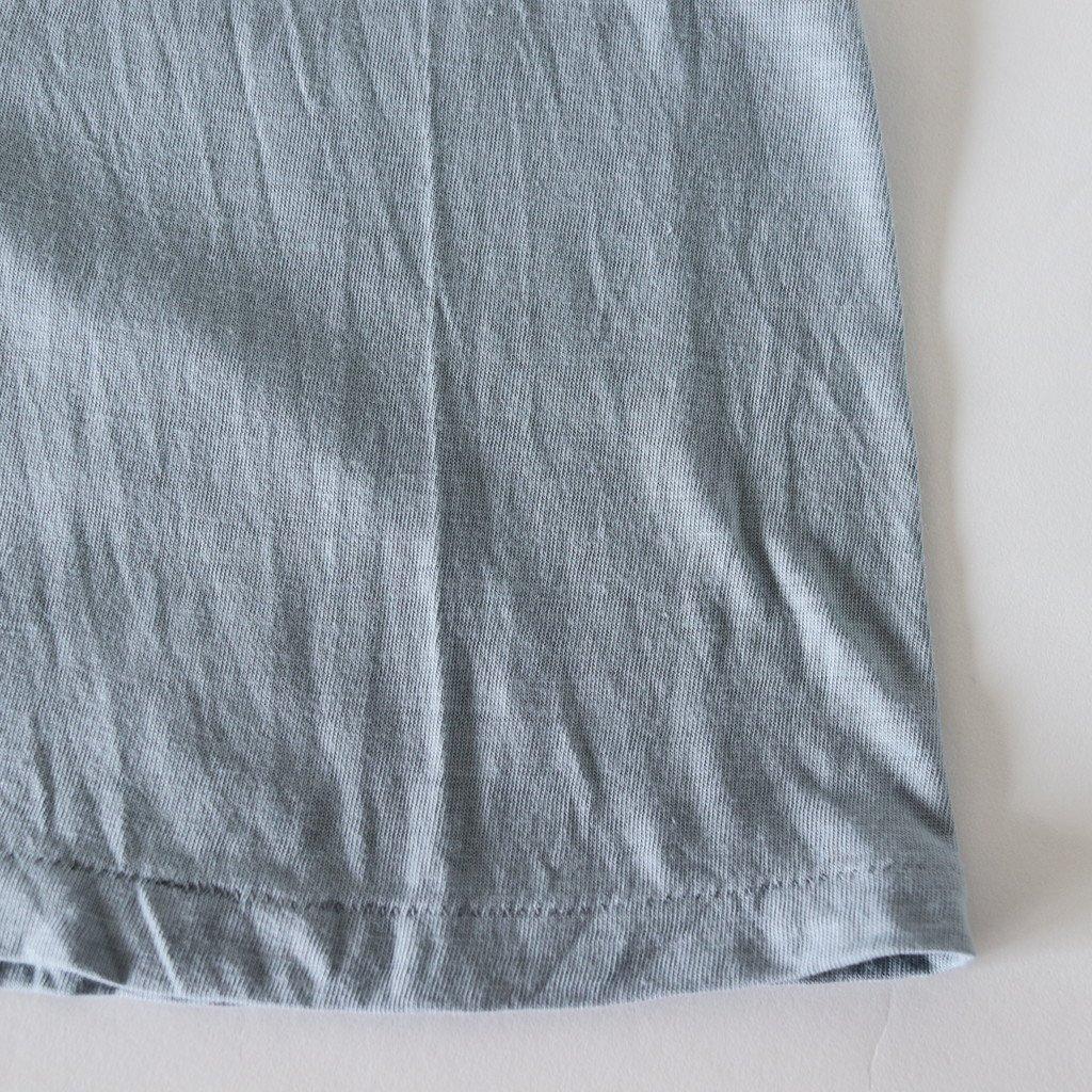 SEAMLESS CREW NECK BIG TEE #BLUE GRAY [A00T05ST]