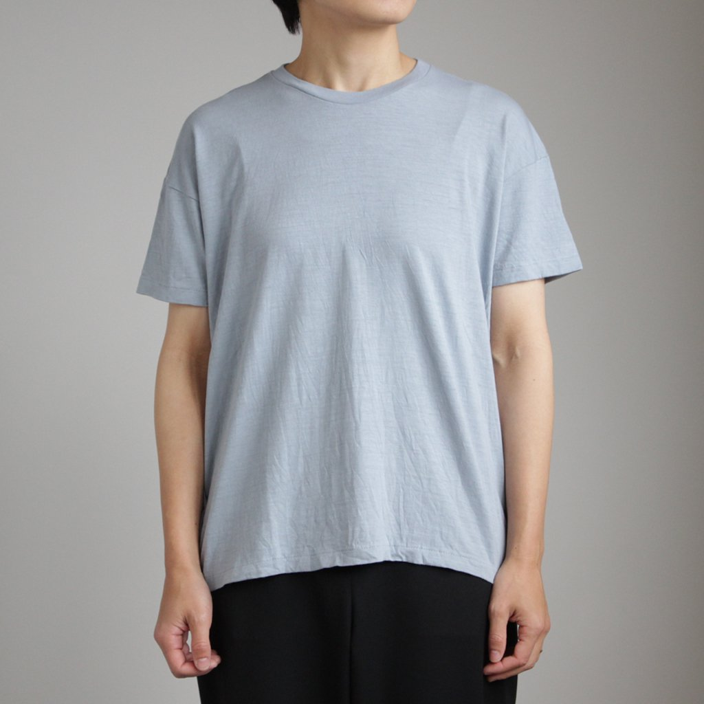 AURALEE | オーラリー SEAMLESS CREW NECK BIG TEE #BLUE GRAY [A00T05ST]