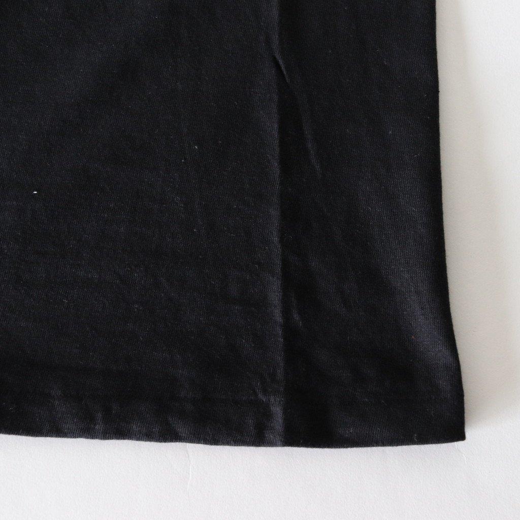 AURALEE   オーラリー SEAMLESS CREW NECK BIG TEE #BLACK [A00T05ST]