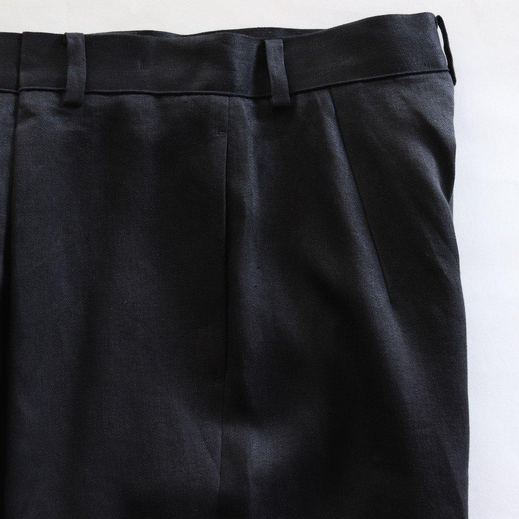 FRONT TUCK PANTS #BLACK [PRAGYM0400]