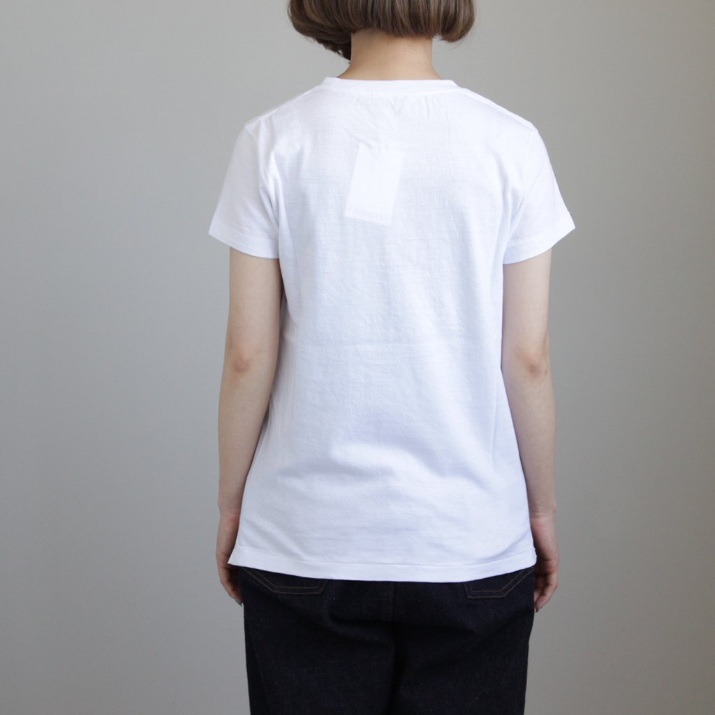 SEAMLESS CREW NECK TEE #WHITE [A00T04ST]