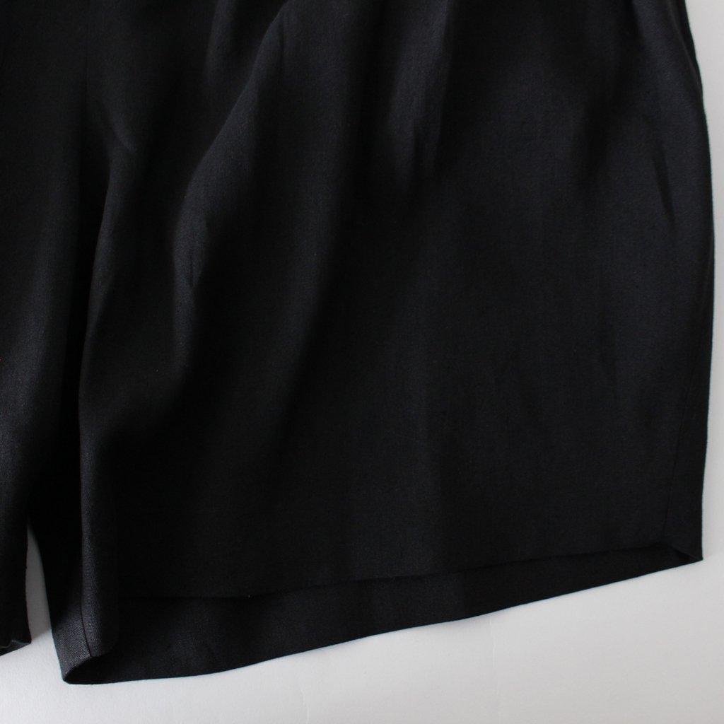 Dulcamara | ドゥルカマラ 和紙リネンショートPT #BLACK [D118-P221]