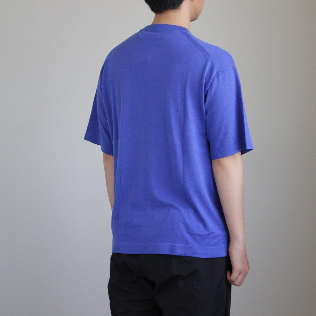 KNIT TEE S/S #BLUE [1801-008]