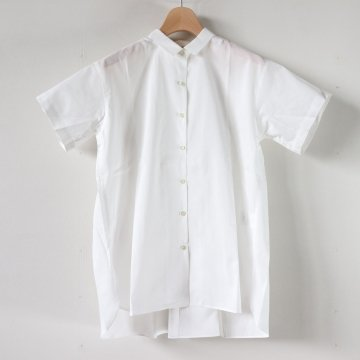 SHORT SLEEVE GATHERED BLOUSE #WHITE [L1801-SH002]