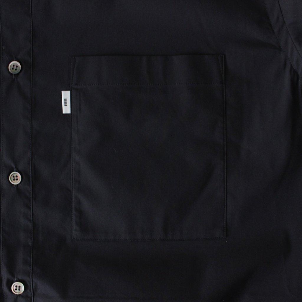 STRETCH TYPEWRITER L/S BOX SHIRT #BLACK [GM182-50506B]