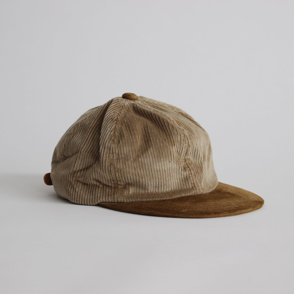 2 TONE CAP CORDUROY #BEIGE [fl-rc-ttc]