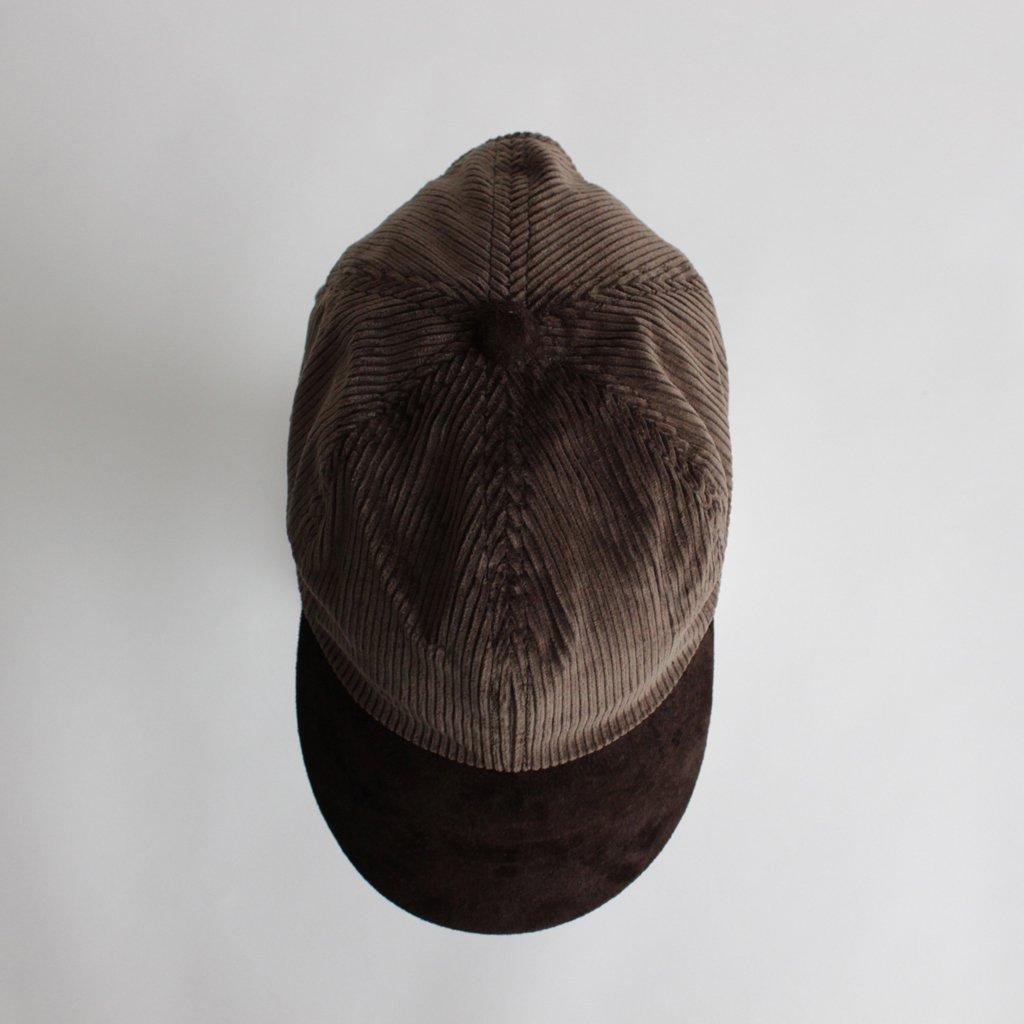 2 TONE CAP CORDUROY #CHOCO [fl-rc-ttc]