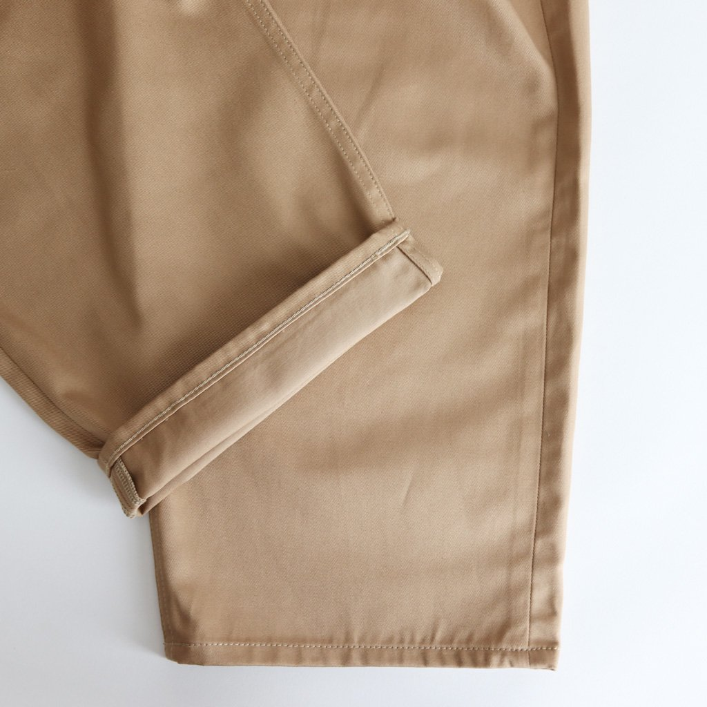 TWO TUCK CHINO PANTS #BEIGE [GM183-40065B]