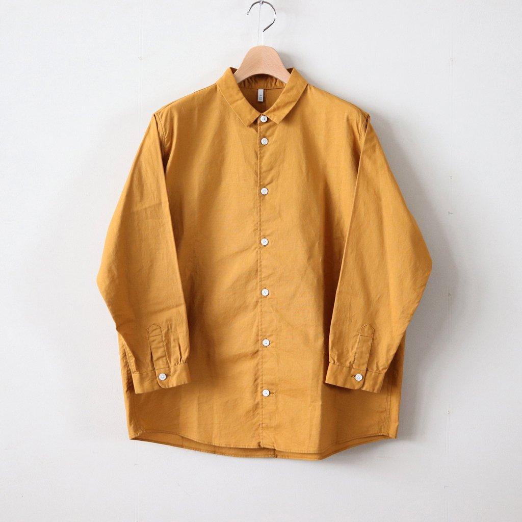 FCTSH|20sラフコットンシーチング スモールカラーワイドシャツ #MUSTARD [A8-FR011SF]