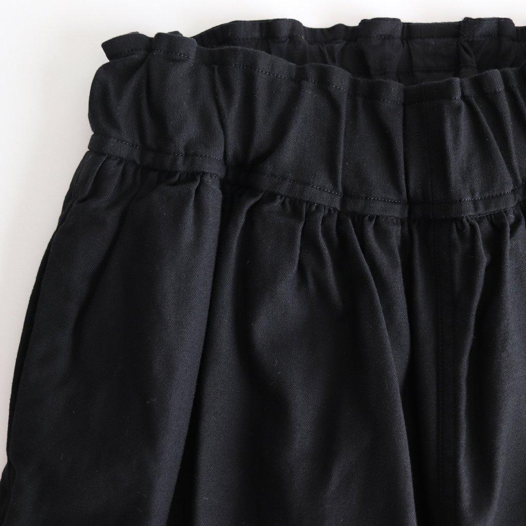FBTSL|ムラ糸ルーズバックサテン イージーワイドパンツ #BLACK [A8-FR023PF]