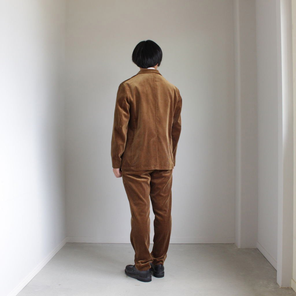 WASHED CORDUROY JACKET #BROWN [A8AJ01FN]