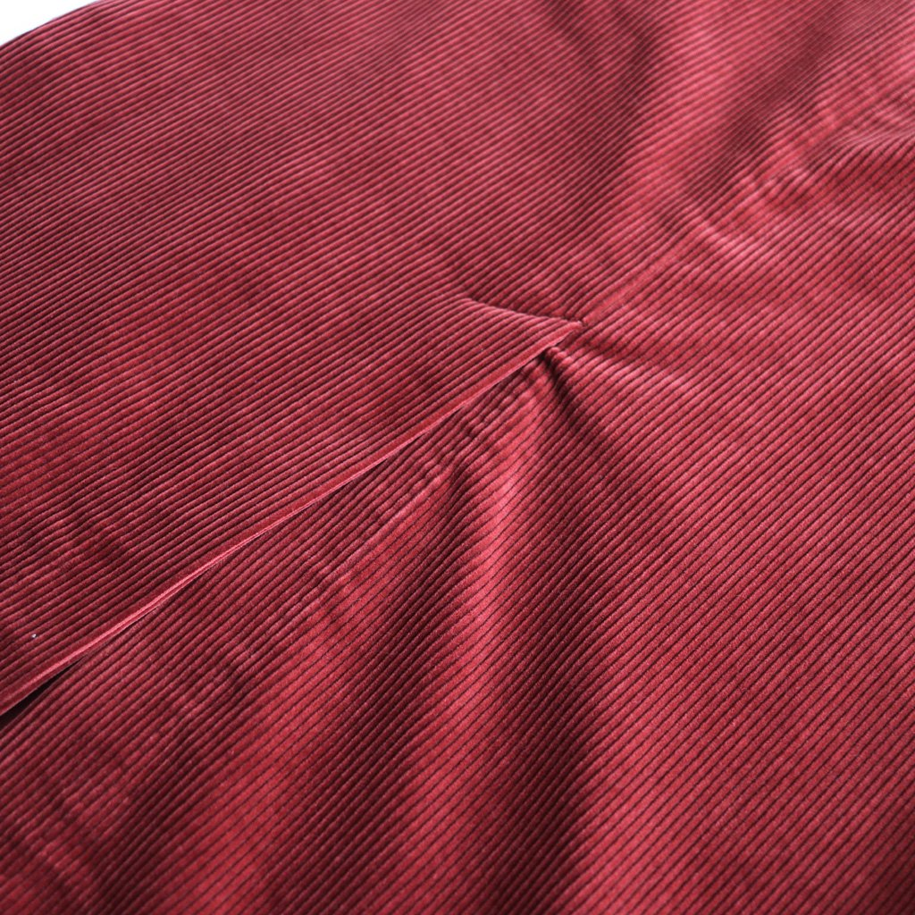 WASHED CORDUROY SLIT LONG SKIRT #RED [A8AS05FN]