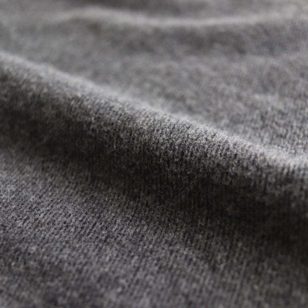 FCVSH|コットン両面起毛3/3ツイル スモールカラーワイドシャツ #CHARCOAL GREY [A8-FR081SF]