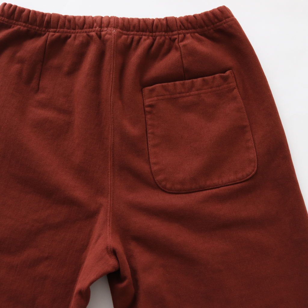 SUPER MILLED SWEAT WIDE PANTS #RED BROWN [A8AP04SM]