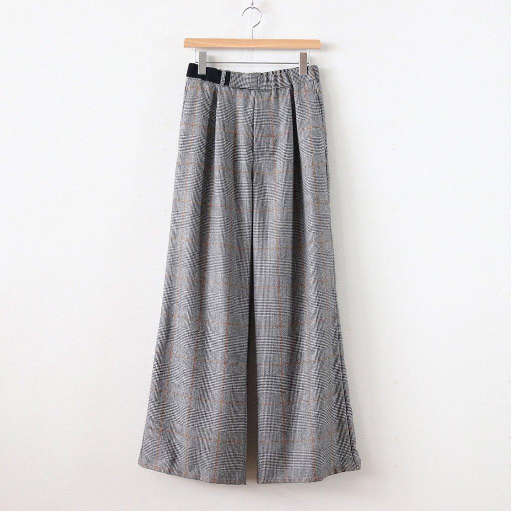 GLENCHECK WIDE COOK PANTS #GLENCHECK [GL183-40046]