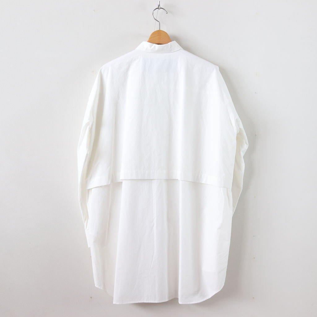 トレンチシャツ-W #WHITE [D218-T825-W]