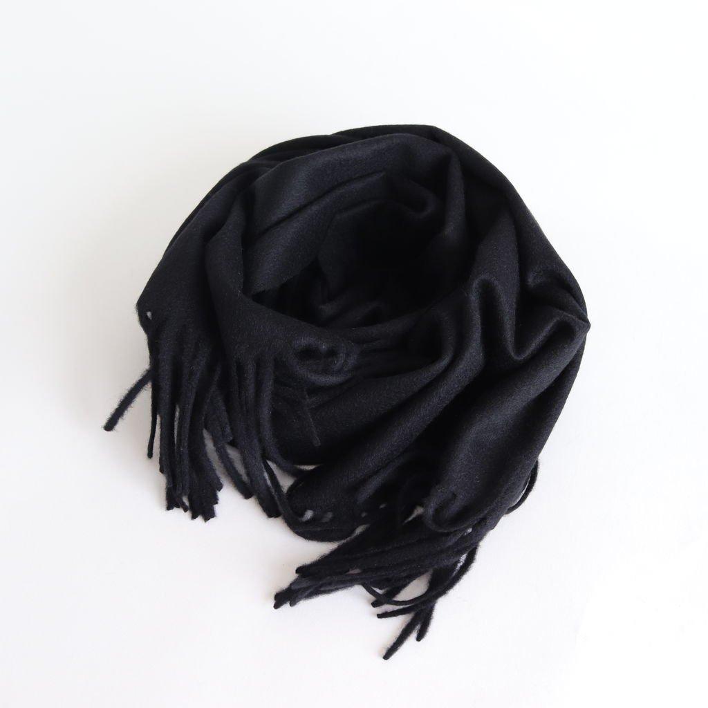 CASHMERE NARROW STOLE #BLACK [A8AM02CM]