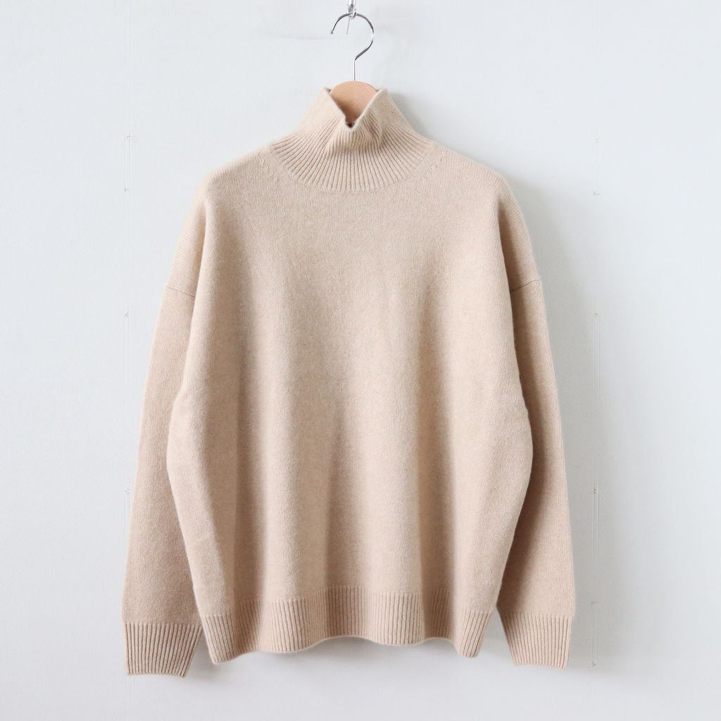 BABY CASHMERE KNIT TURTLE NECK P/O #NATURAL BEIGE [A8AP05BC]