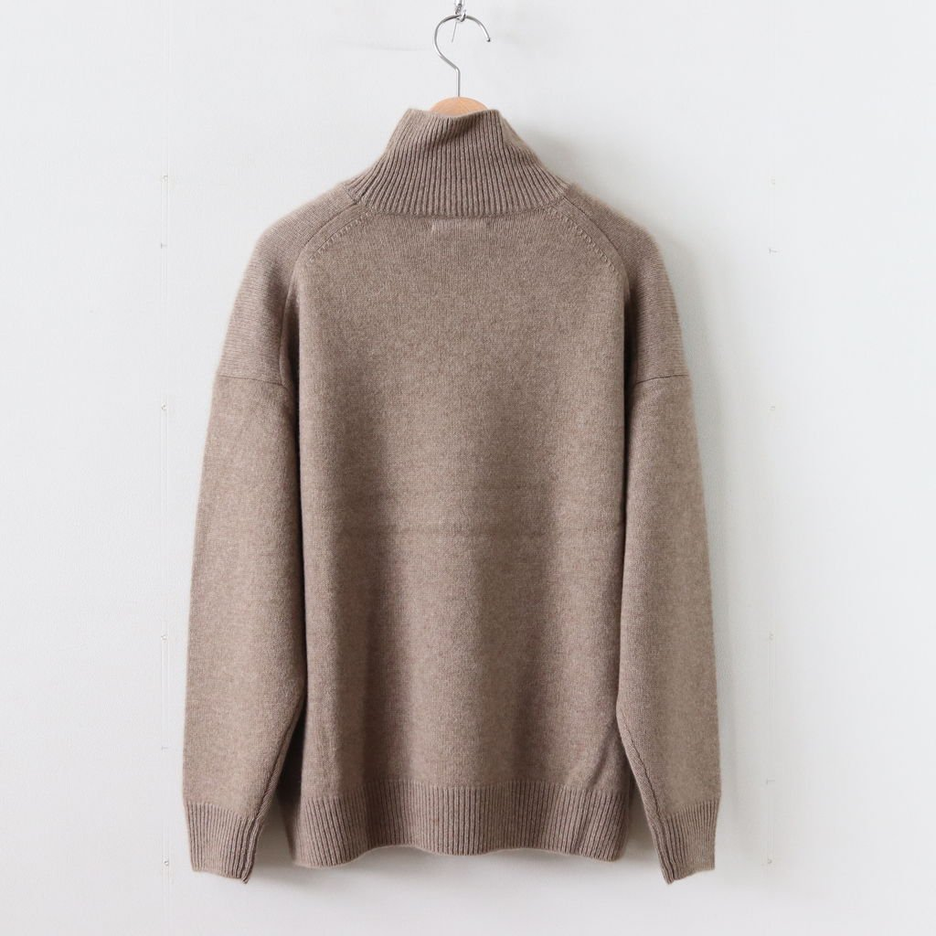 BABY CASHMERE KNIT TURTLE NECK P/O #NATURAL BROWN [A8AP05BC]
