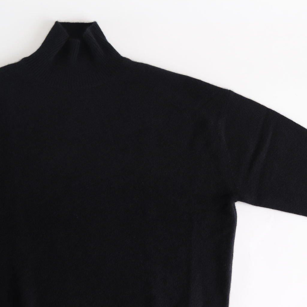 BABY CASHMERE KNIT TURTLE NECK P/O #TOP BLACK [A8AP05BC]