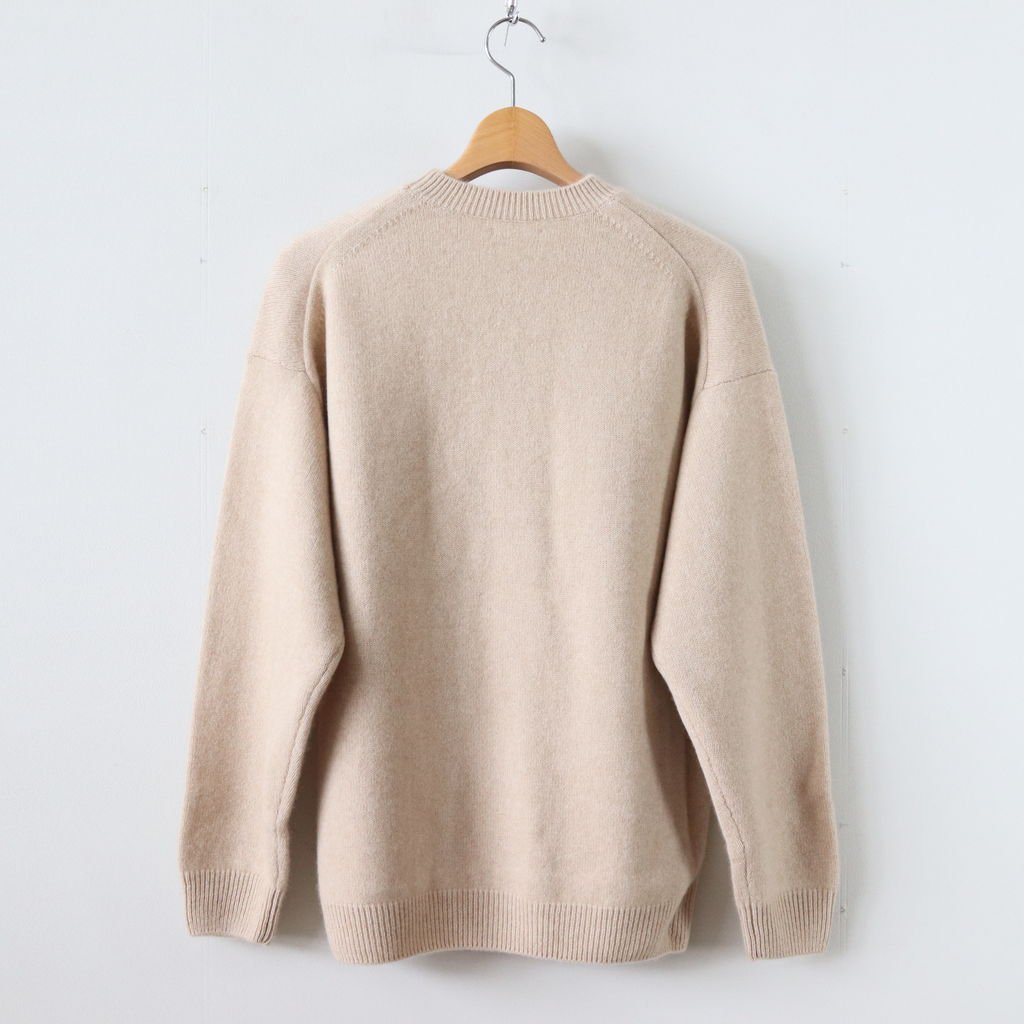 BABY CASHMERE KNIT P/O #NATURAL BEIGE [A8AP01BC]