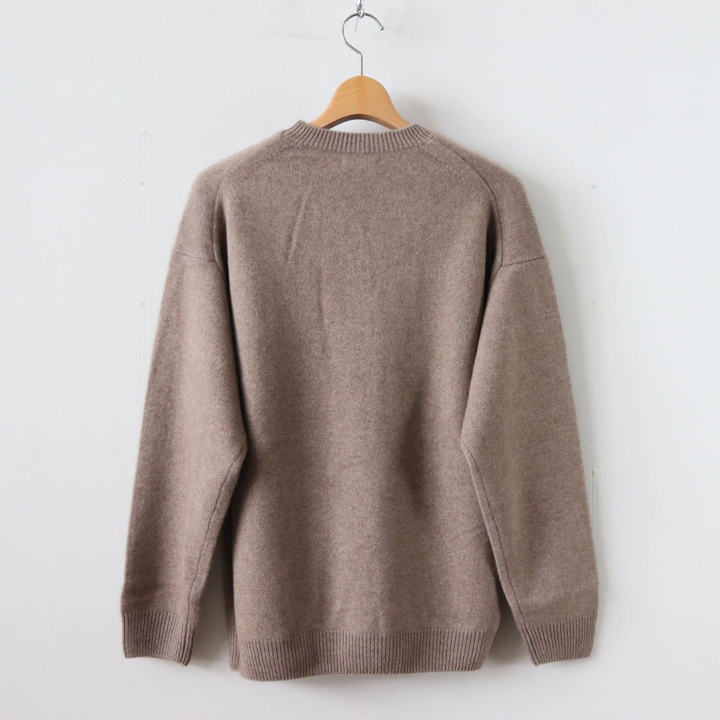 BABY CASHMERE KNIT P/O #NATURAL BROWN [A8AP01BC]