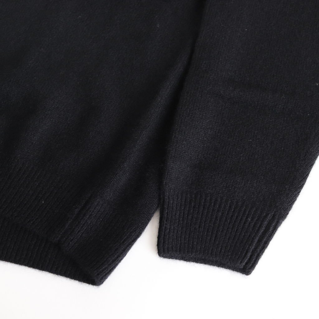BABY CASHMERE KNIT P/O #TOP BLACK [A8AP01BC]