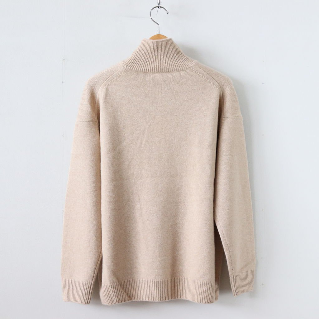 BABY CASHMERE KNIT TURTLE NECK P/O #NATURAL BEIGE [A8AP02BC]