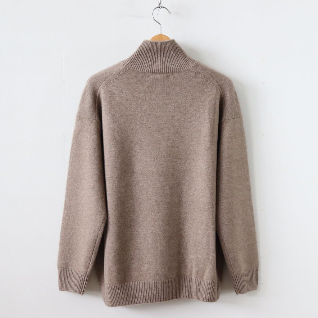 BABY CASHMERE KNIT TURTLE NECK P/O #NATURAL BROWN [A8AP02BC]