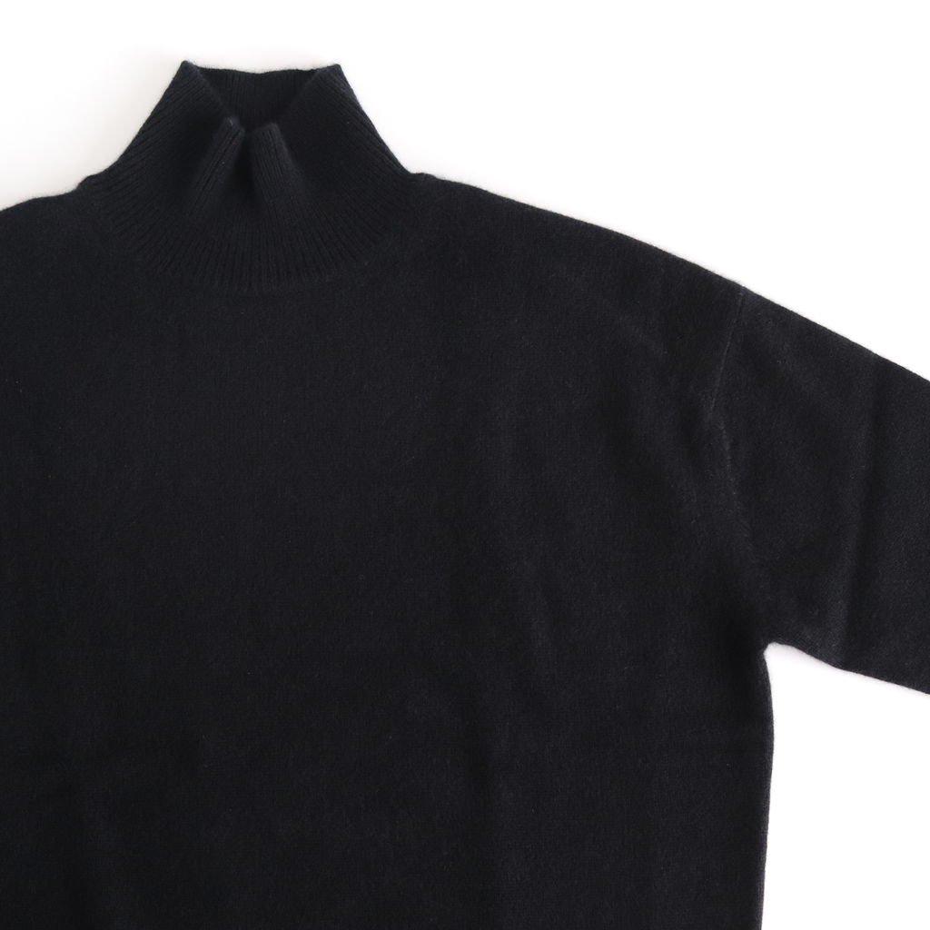BABY CASHMERE KNIT TURTLE NECK P/O #TOP BLACK [A8AP02BC]