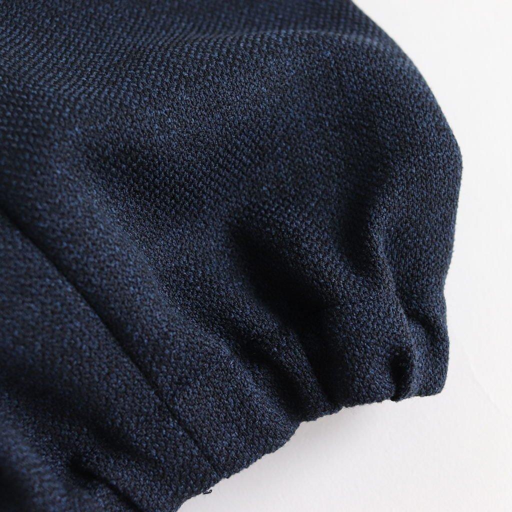 NADPT|350Dポリエステルツィードオックス バルーンイージーパンツ #NAVY BLUE TOP [A8-NC115PF]