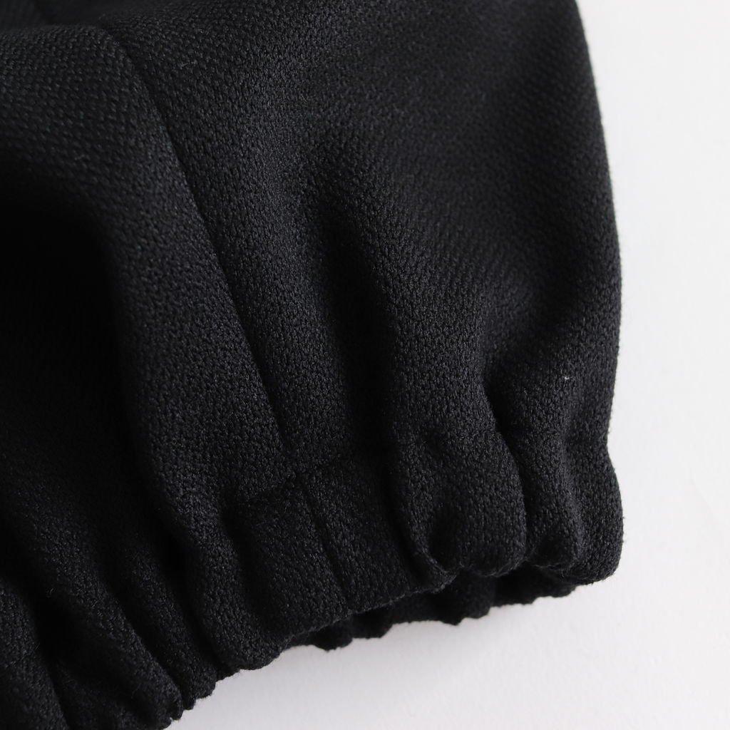NADPT|350Dポリエステルツィードオックス バルーンイージーパンツ #BLACK [A8-NC115PF]