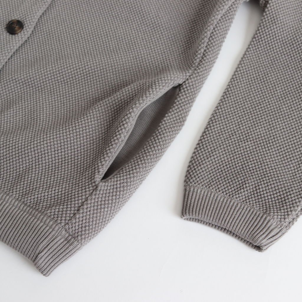 MOSS STITCH CARDIGAN for ciacura #MIDDLE GRAY [1803-023W]