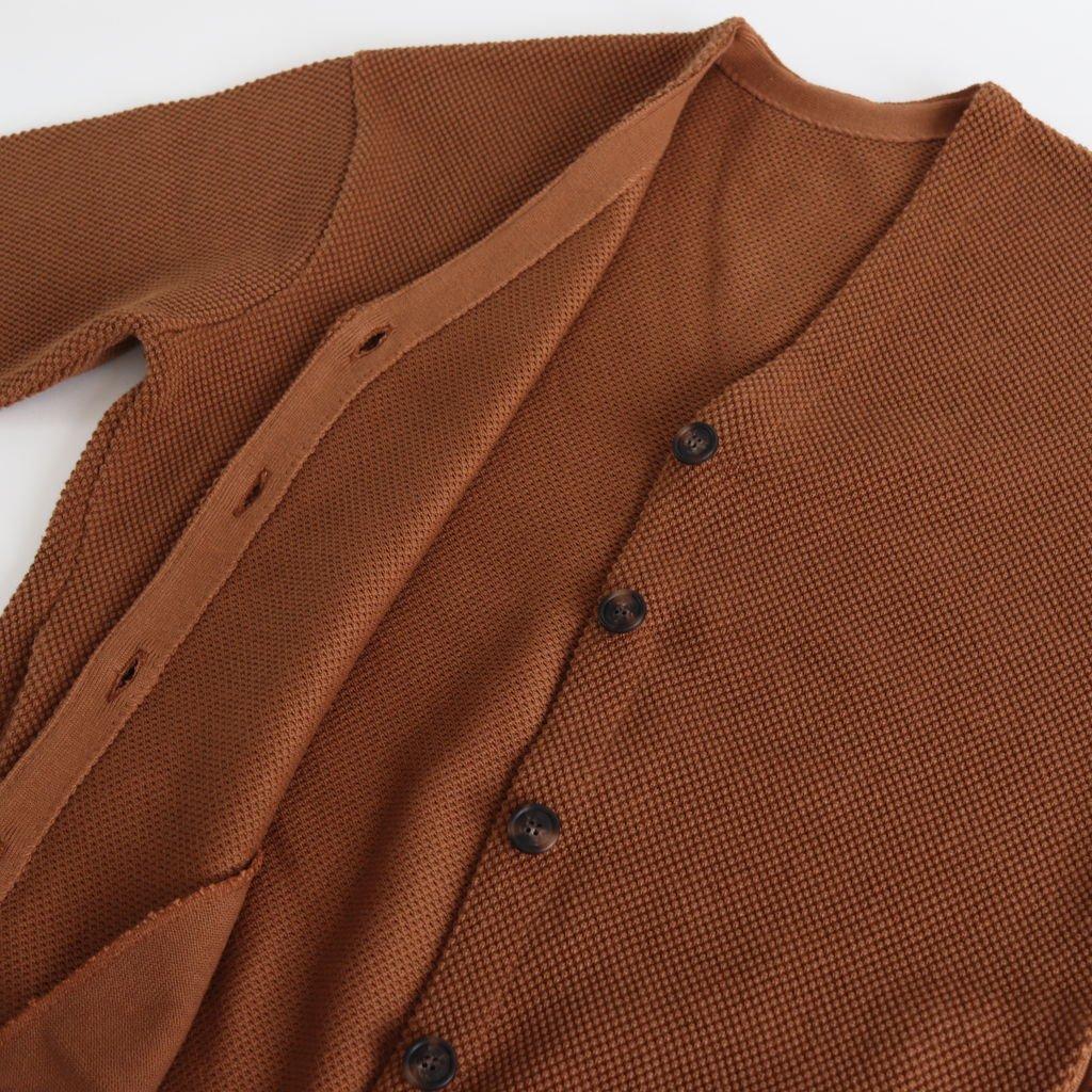 MOSS STITCH CARDIGAN for ciacura #CINNAMON [1803-023W]