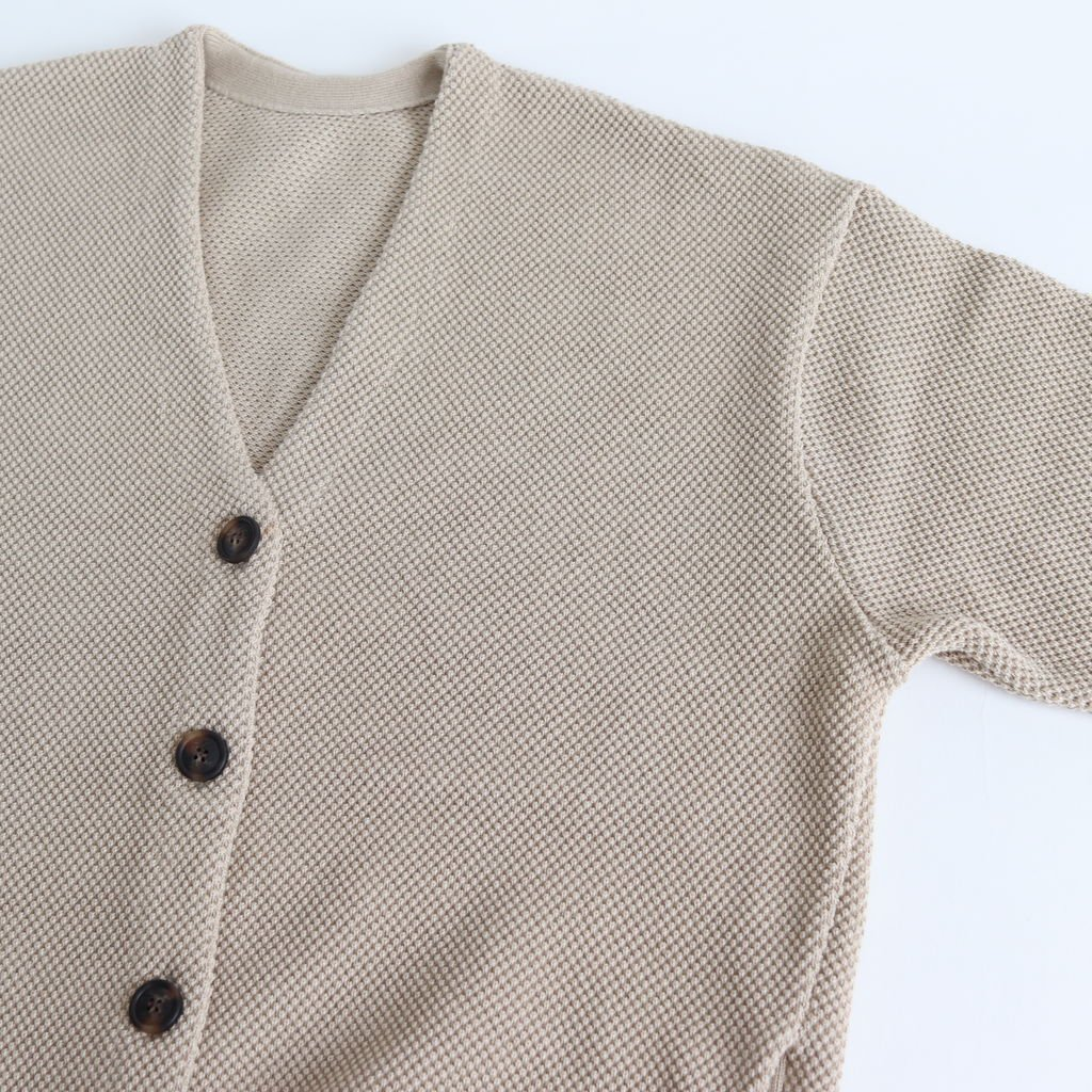MOSS STITCH CARDIGAN for ciacura #SHADE BEIGE [1803-023W]