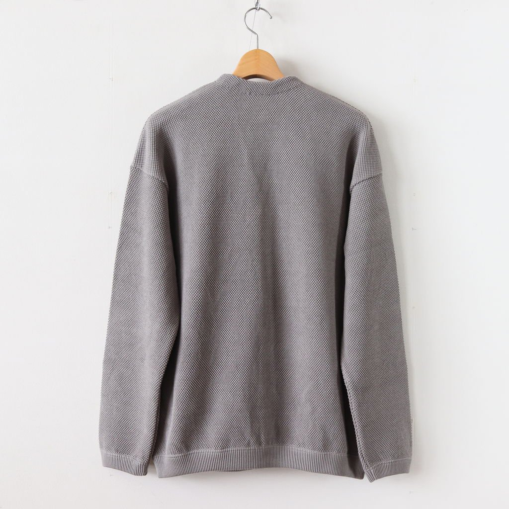 MOSS STITCH CARDIGAN for ciacura #MIDDLE GRAY [1803-023]