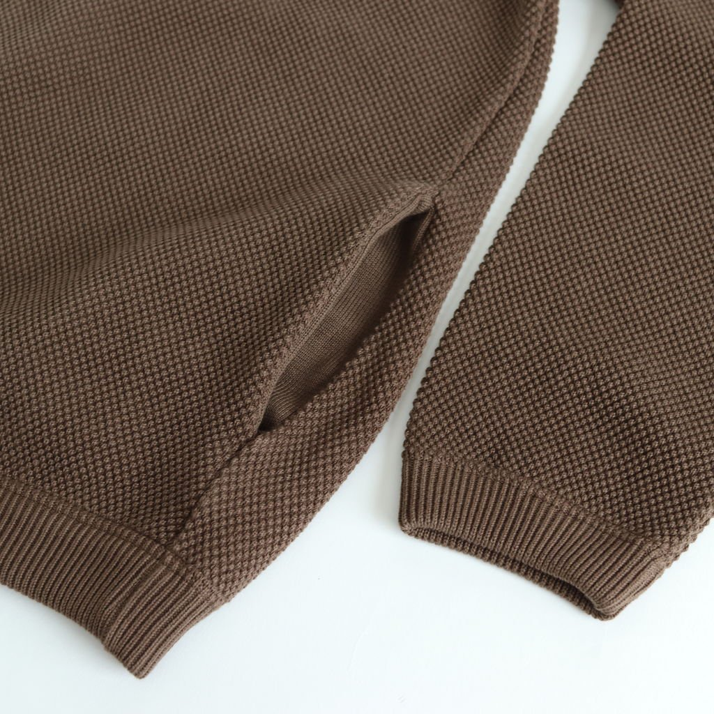 MOSS STITCH CARDIGAN for ciacura #WALNUT [1803-023]