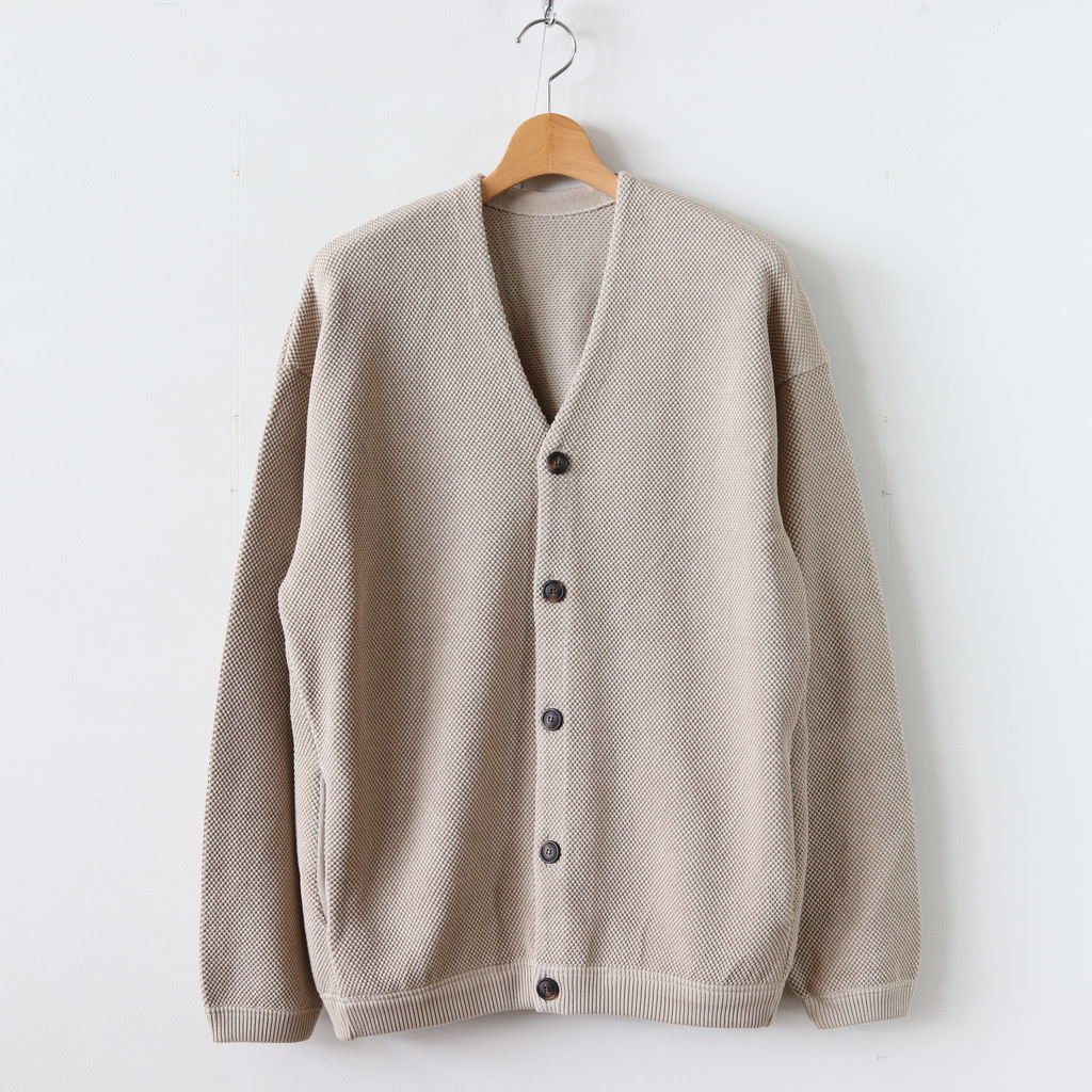 MOSS STITCH CARDIGAN for ciacura #SHADE BEIGE [1803-023]