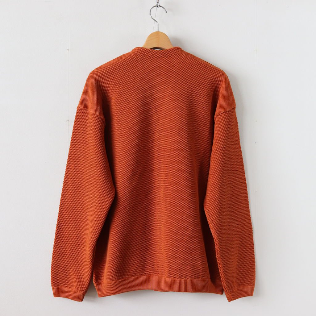 MOSS STITCH CARDIGAN for ciacura #BRICK [1803-023]