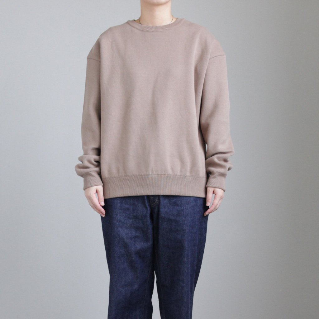MILANORIB CREWNECK P/O #BROWN [1803-009W]