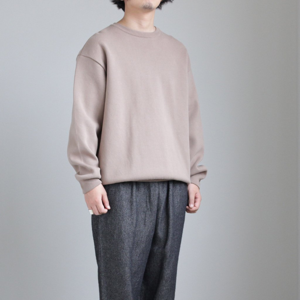 MILANORIB CREWNECK P/O #BROWN [1803-009]