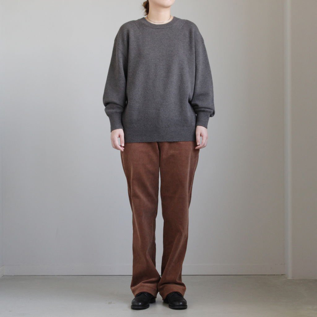 CORDUROY TROUSERS #BROWN [L1802-PT002]